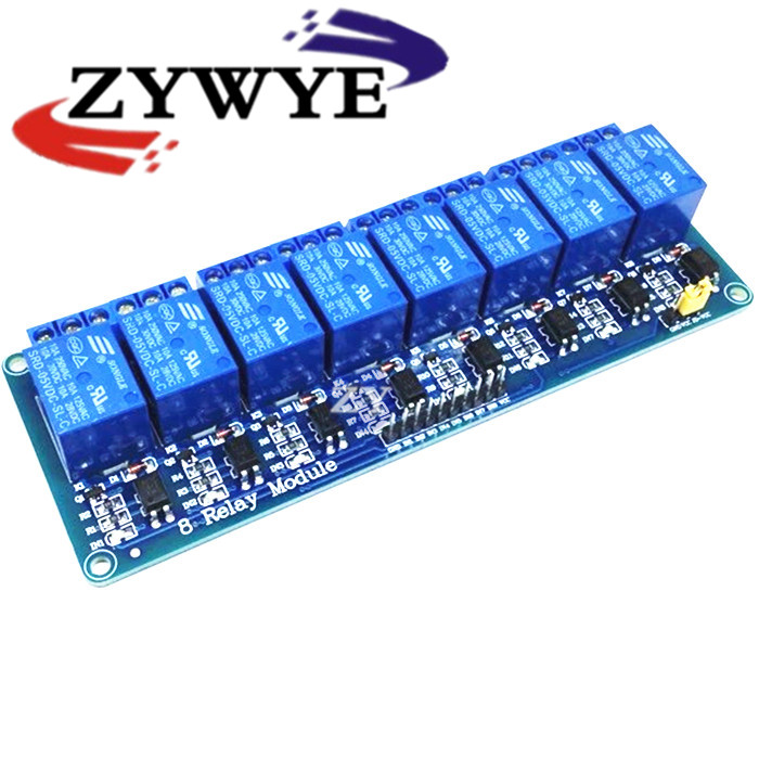 ZYWYE 8 channel 8-channel relay control panel PLC relay 5V module for arduino hot sale in stock.8 road 5V Relay Module pcb board 1 channel plc relay module slotted optical switch sensor for arduino
