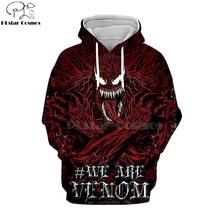 PLstar Cosmos marvel Movie Spiderman Venom Villain Skull Tee 3D Print Hoodies/Sweatshirt long sleeve Unisex Good Quality Top-9