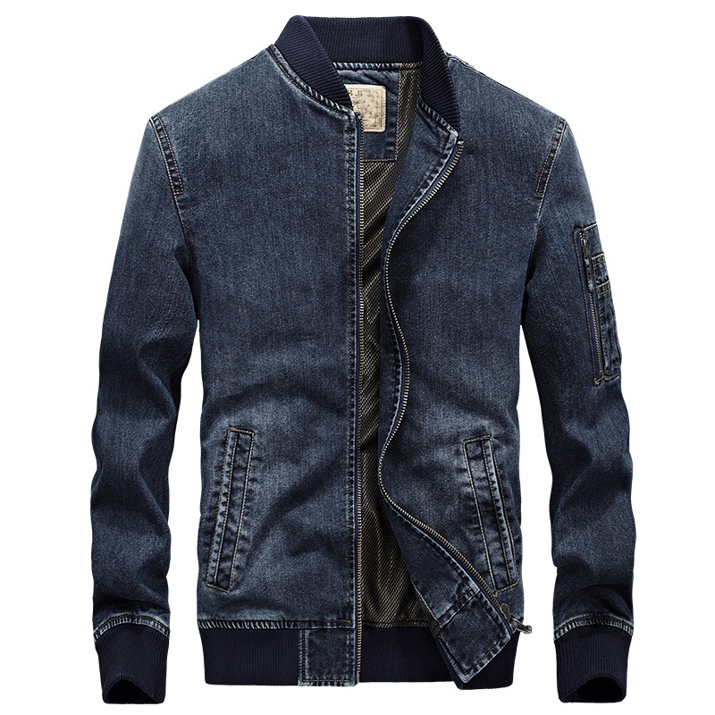 Men Slim Vintage Style Biker Motorcycle Denim Vest Single Breasted Turn Down Collar Embroidery Plaid Suit