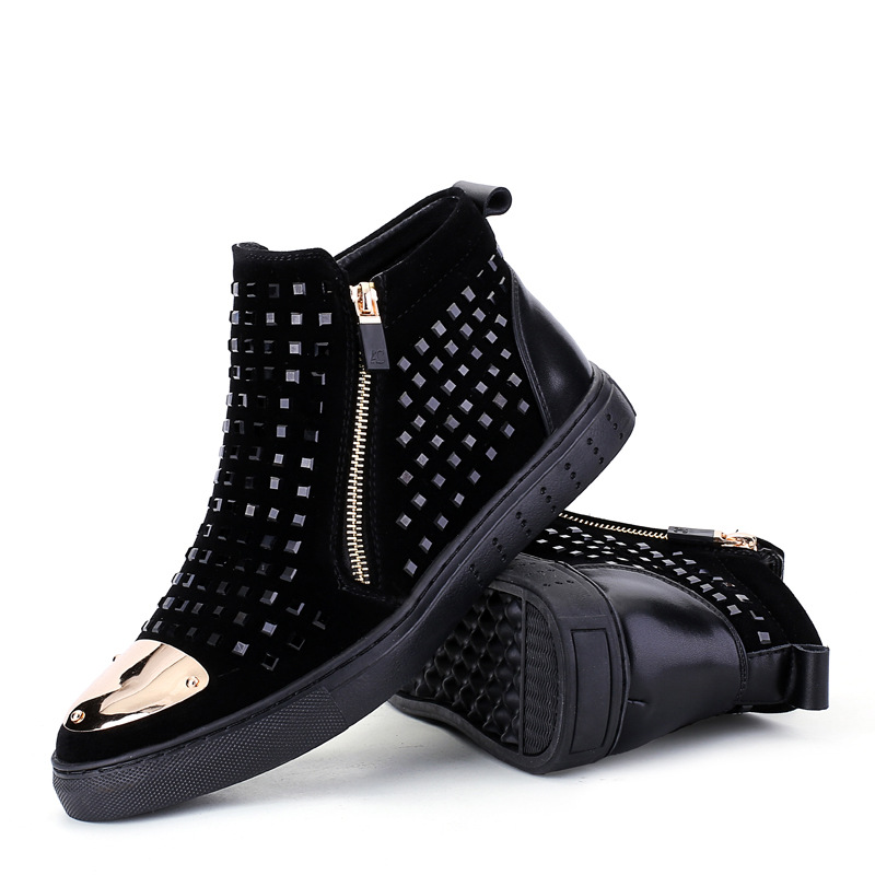 New sub Martin boots male British short boots men high shoes rivets punk Skateboarding Shoes boots men size 39--44 SNEAKERS short boots woman the fall of 2017 a new restoring ancient ways british wind thick boots bottom students with martin boots