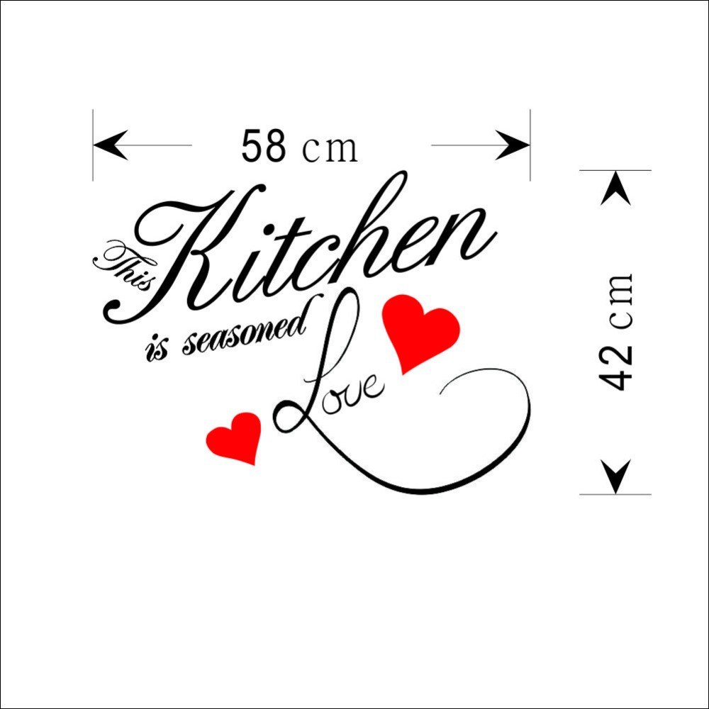 This Kitchen is seasoned love quote wall decal removable ...