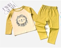 Baby Boys Girls Clothing Sets Cartoon Sleepwear Suit Long Sleeve Cartoon Pajamas Home Wear Soft Cotton