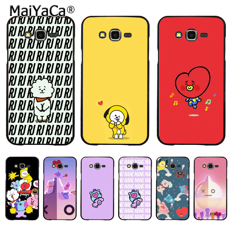 MaiYaCa BTS BT21 Top Detailed Coque Phone case for Samsung J1 J3 J5 J7 Note 3 Note 4 Note 5