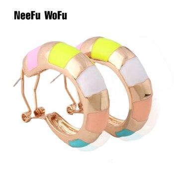 NeeFu WoFu gota gran pendiente anillo impreso Metal para mujer oreja serpiente grande Brinco impresión Oorbellen pendientes artículos de joyería con motivos de Semana Santa