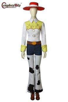 35bf6d16d17e Cosplaydiy juguete historia cantar vaquera Jessie traje del traje de Cosplay  de Halloween Disfraces de Carnaval trajes para adultos juegos completos