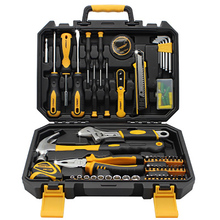 100-piece set Household tool set Multi-function repair hardware tool combination Sleeve, pliers tape measure screwdriver wrench 8 piece multifunctional hardware hand tool sets with combination pliers screwdriver electroscope pencil and claw hammer