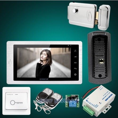 HOMSECUR 7 Wired Video&Audio Smart Doorbell Electric Lock+Keys Included 1C1M+Lock t handle vending machine pop up tubular cylinder lock w 3 keys vendo vending machine lock serving coffee drink and so on