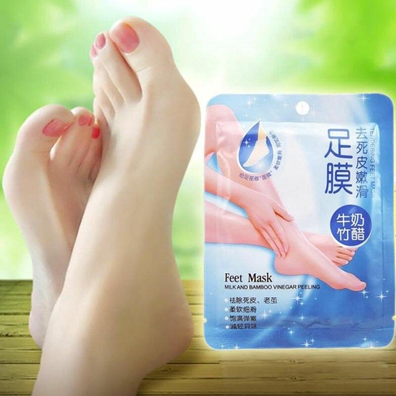 1 упаковка, пилинг, маска для ног, молочный бамбуковый уксус, удаляет омертвевшую кожу, гладкие отшелушивающие маски для ног, носки, уход за н...