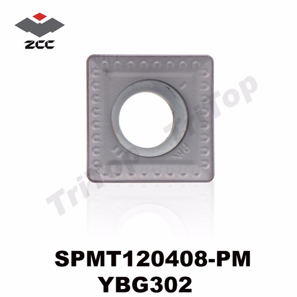 SPMT120408-PM YBG302 ZCC.CT SPMT 120408 Cementuoti karbido šlifavimo frezavimo įdėklai SPMT120408-PM frezavimo įrankiai