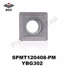 SPMT120408-PM YBG302 ZCC.CT SPMT 120408 Cemented Carbide Chamfer Milling inserts SPMT120408-PM chamfering milling tools