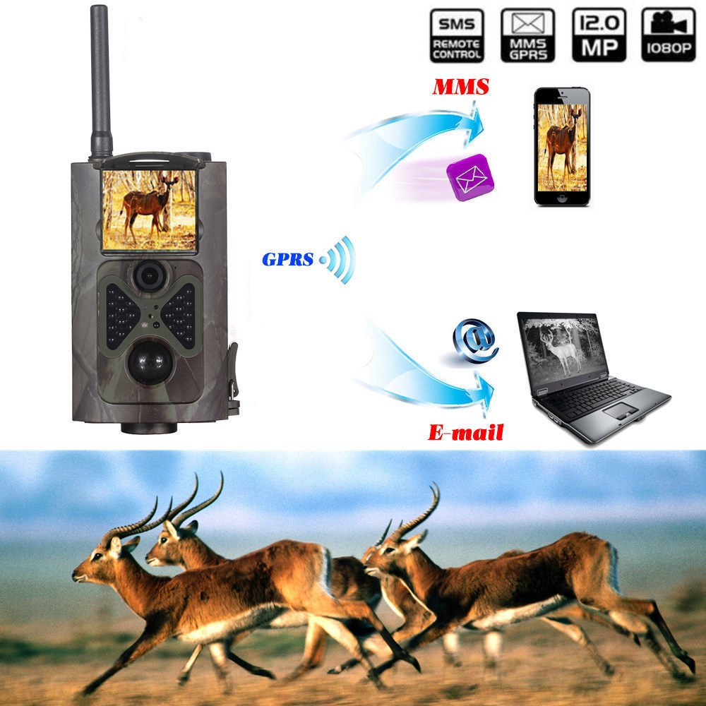 HC300M Scouting Hunting Camera Motion trigger HD Digital Black IR Infrared Trail Camera MMS GSM GPRS Hunting camera trail Email 940nm scouting hunting camera 16mp 1080p new hd digital infrared trail camera 2 inch lcd ir hunter cam