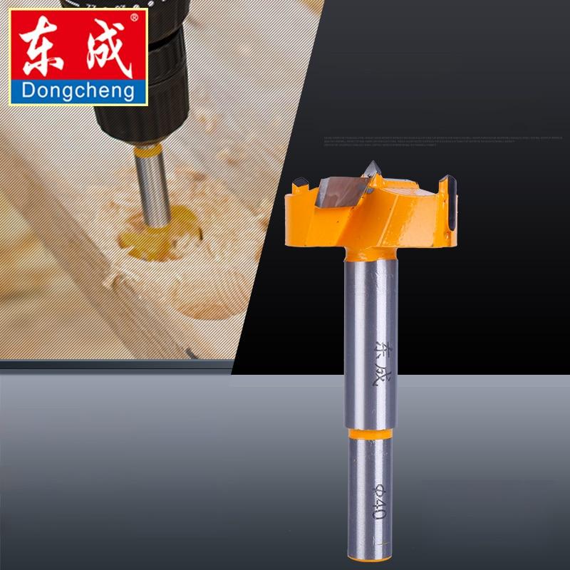 Dongcheng 16mm-35mm forstner dicas ferramentas para trabalhar madeira chato abridor de buraco viu cortador dobradiça broca bits haste redonda