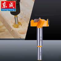 Dongchen 16mm-35mm Puntas de Forstner herramientas para trabajar la madera perforadora de madera abridor de agujeros Sierra bisagra del cortador brocas mango redondo