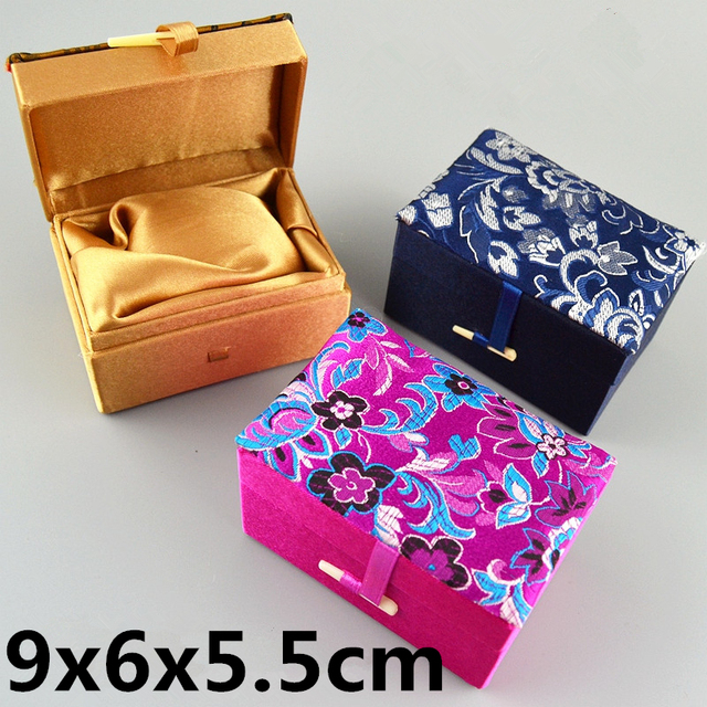 Us 32 0 Soft Silk Brocade Small Box For Christmas Rectangle Gift Box Packaging Jewelry Decorative Crafts Stone Storage Boxes 9x6x5 5cm In Gift Bags