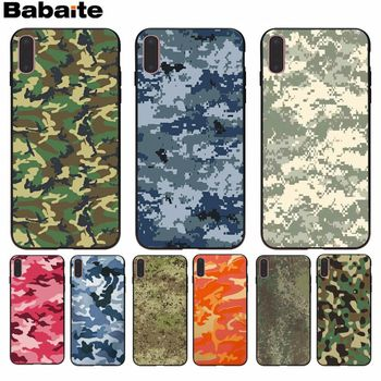 Babaite Camouflage Popular Unique Design Phone Cover for Apple iPhone 8 7 6 6S Plus X XS MAX 5 5S SE XR Cellphones image
