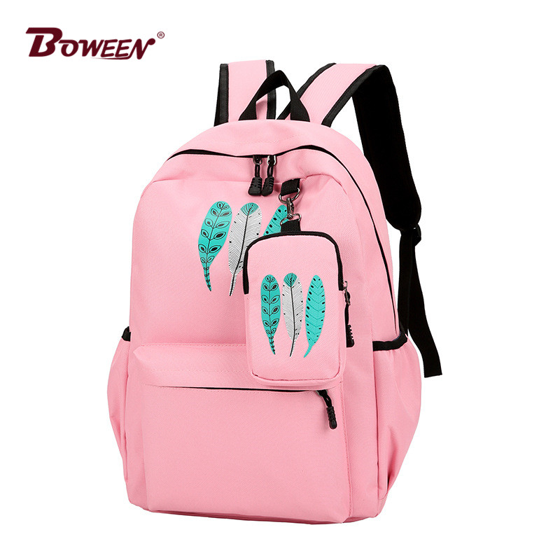 fb6149232ae4 2019 Clover backpacks for women schoolbag back pack Simple Solid ...