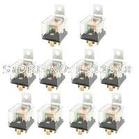 12VDC 40 Amp 5P NO+NC SPDT Green Indicator Auto Car Power Relay 10 Pcs