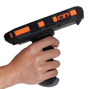 Image 2 - 산업용 견고한 휴대용 모바일 pda 데이터 수집 터미널 무선 핸드 헬드 pda 바코드 스캐너 안드로이드 권총 그립