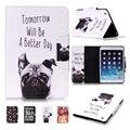 Для iPad Mini Крышки Случая Милая Собака ИСКУССТВЕННАЯ Кожа Флип Фолио Стенд магнитный Чехол Всего Тела Защитная Крышка для iPad Mini 3 2 1 Coque