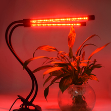 20W Dual Head 60 LED Plant Grow Light 8 Mode Dimmable 3/9/12H Auto On Off Full Spectrum Lamp LED Grow Light lamp for plants