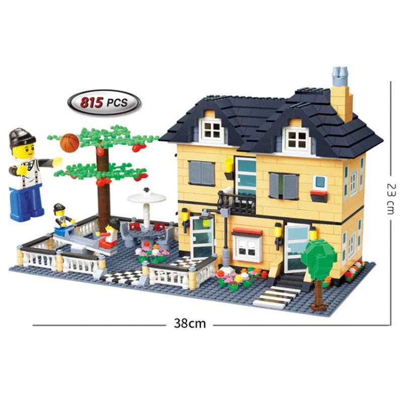 ФОТО garden villa house model building blocks kids friend toy compatible minifigures house city bricks toy children with original box