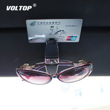 Glasses Case Auto Fastener Cip Car Accessories ABS Vehicle Sun Visor Sunglasses Eyeglasses Holder Ticket Clip