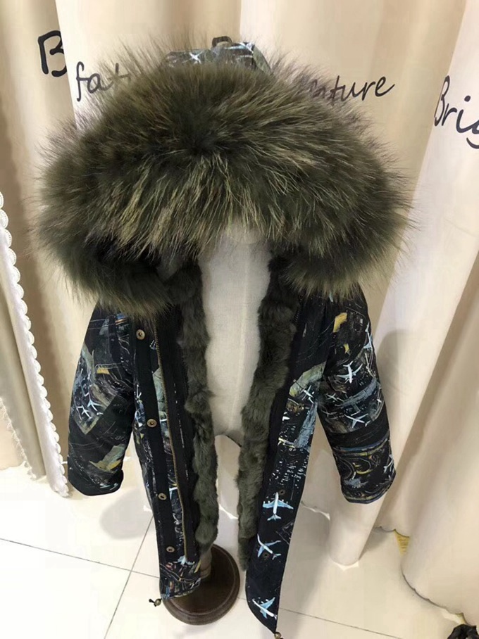 child winter real fur parkas coat (25)