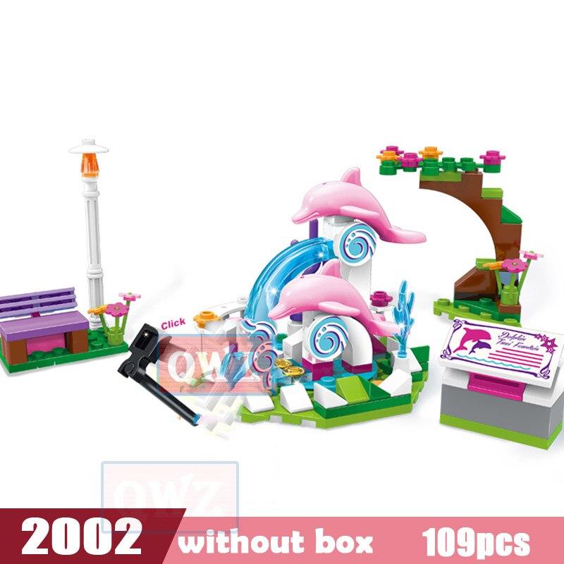 Legoes город девушка друзья большой сад вилла модель строительные блоки кирпич техника Playmobil игрушки для детей Подарки - Цвет: 2002 without box