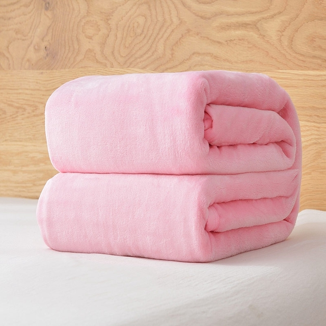 Fleece Warm Blanket Pink bedspread Bed cover Twin Queen size Bed sheet Winter Throw Bed set Bed /sofa/travel 150X200/200X230