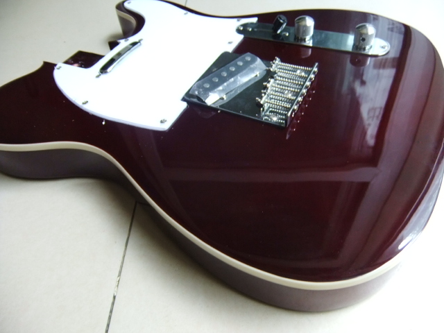 Free Shipping China Electric Guitar Body for Tel In Wine Brown 110619 free shipping china left handed str electric guitar aged in cream 160106 0320