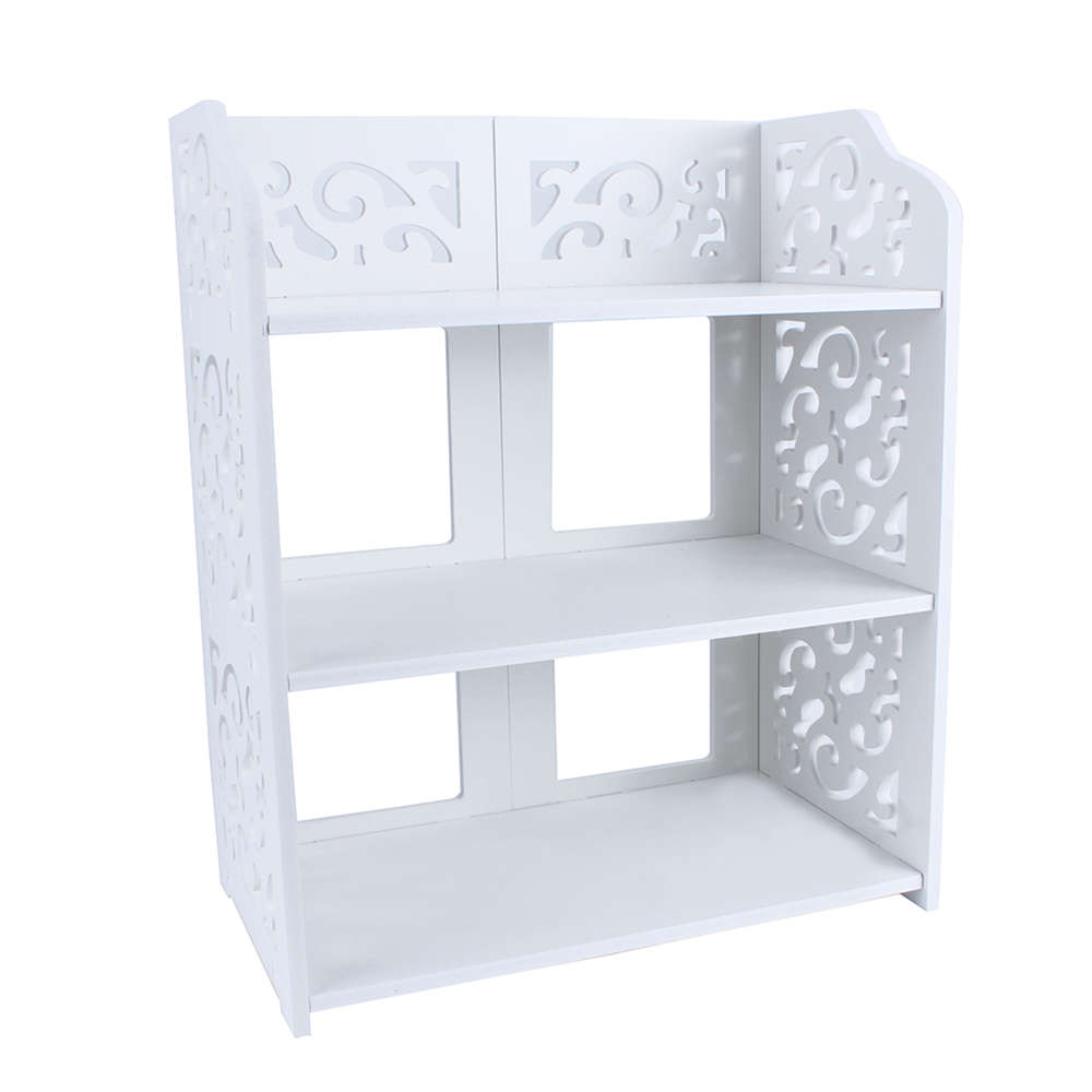 1pcs White Wood Carving Shelf Storage Home Organizer 3 4 5 Tier Shoe