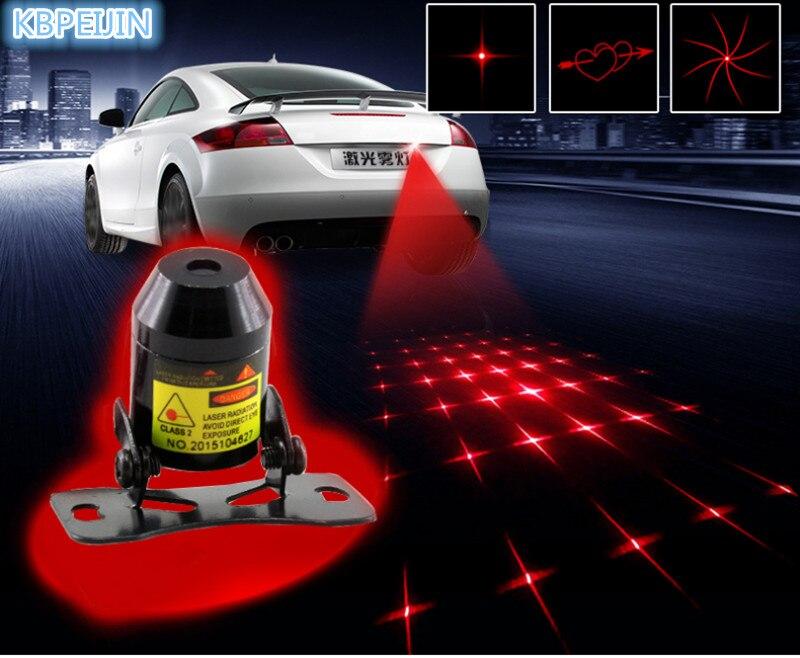 New Pattern Anti Collision Rear-end Car Laser Tail Fog Light Sticker For KIA Sportage Rio Sorento Cerato K2 K3 Soul Accessories