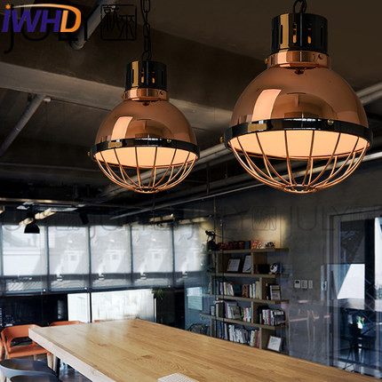 IWHD Loft Style Industrial Pendant Light Fixtures Iron Vintage Lamp Edison Bulb Pendant Lamp For Dining Room Kitchen Hanglamp iwhd loft style round glass edison pendant light fixtures iron vintage industrial lighting for dining room home hanging lamp