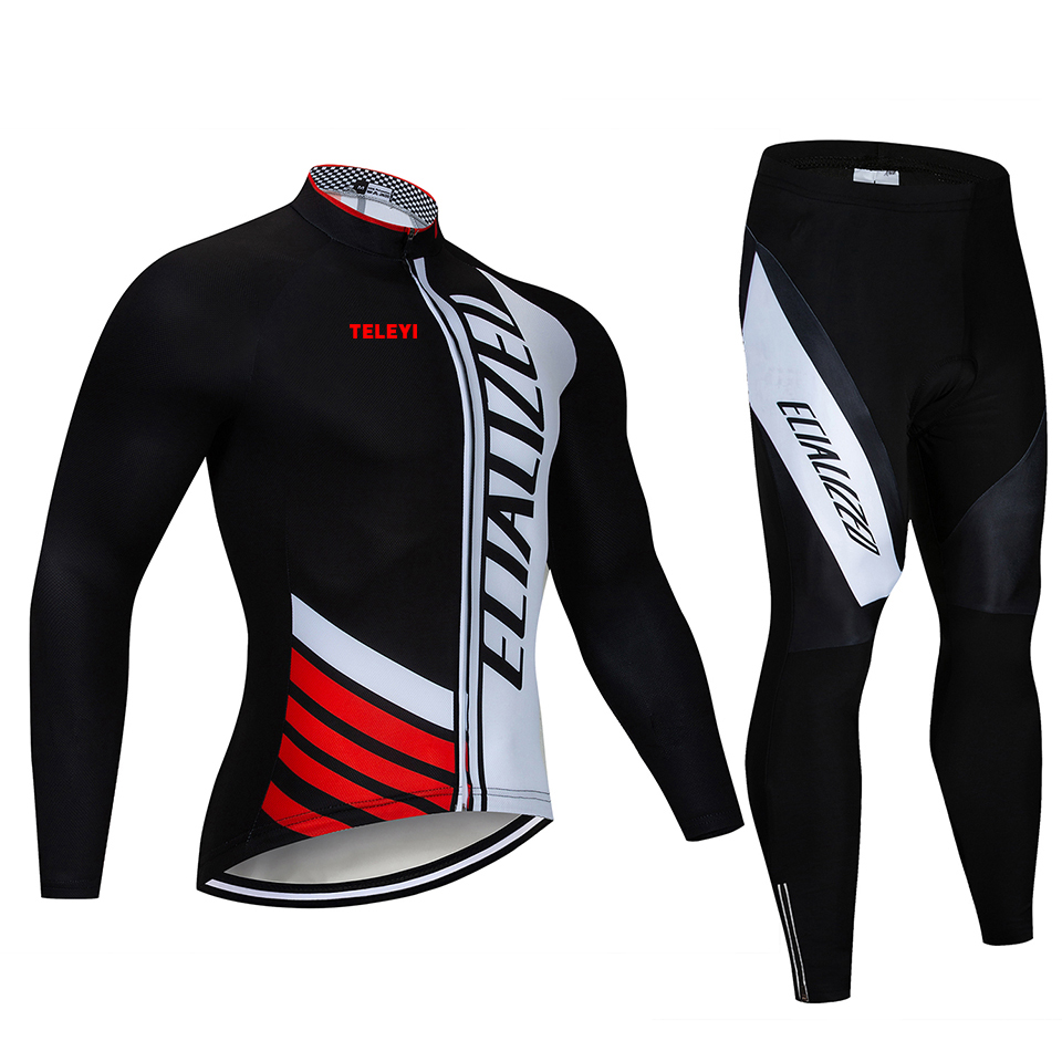 2018 SPECIALIZEDING Long Sleeve Cycling Jersey Set Mountain Bike Clothes  Wear Maillot Ropa Ciclismo Quick-in Cycling Sets from Sports    Entertainment on ... 8dd5e133f