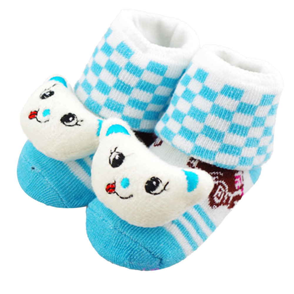 0-12 Months Newborn Cute Baby Girl Boy Unisex Anti-slip Socks Animal Boots infant slip-resistant floor warmsocks boots