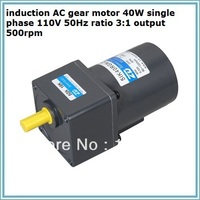 NO.A4050 induction AC gear motor 40W single phase 110V 50Hz ratio 50:1 output 30rpm