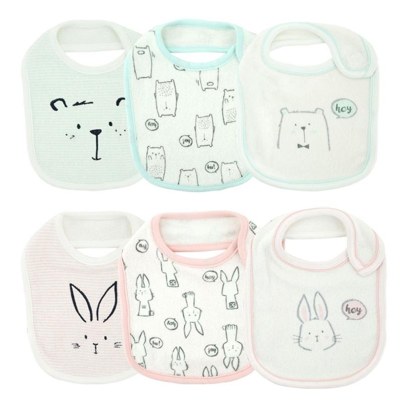 Cotton Baby Bibs Toddler Infant Saliva Towels Bibs & Burp Cloths Feeding Newborn Wear Cartoon Bib Baby Clothing Product Towel