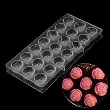 Baking pastry tools rose flower chocolate mold,baking supplies polycarbonate  chocolate moulds kitchen bakeware pastry