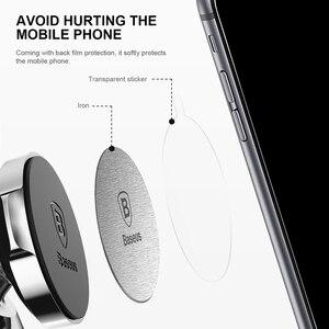 Image 3 - Disco magnético Baseus para el soporte del teléfono del coche 2 piezas Metal y cuero planchas de hierro placa soporte del Soporte de uso del teléfono móvil del montaje del imán