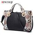 Women Bag 2016 Handbag Leather Serpentine Pattern Shoulder Bags Ladies Messenger Bag Fashion Hand Bags High Quality Diamond 3