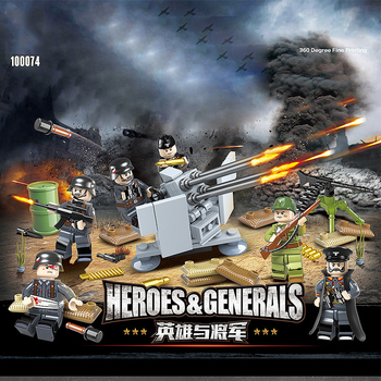 Military ww2 Germany army figures 6in1 FLAK38*20mm building block world war Wounded soldier bricks weapon gun batisbricks toys pre order general quality version 135 world war ii germany twelfth armored division resin toys