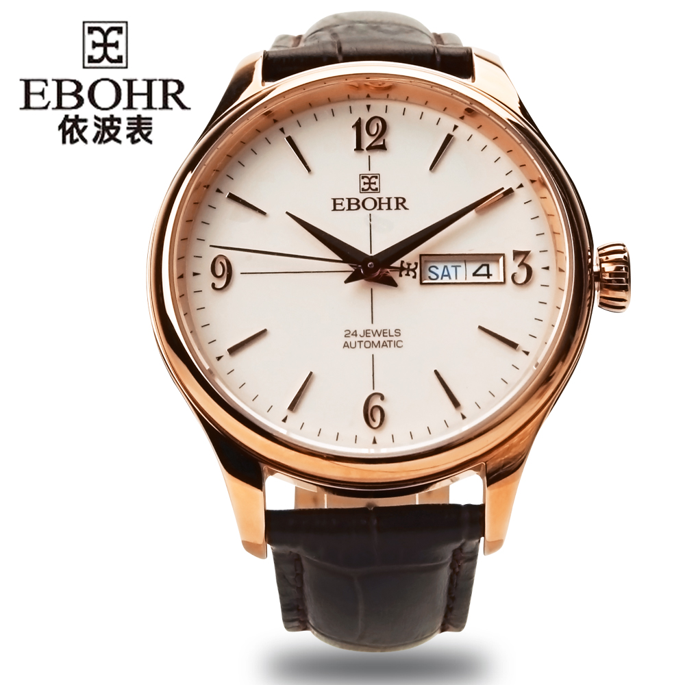 EBOHR brand luxury machinery successful men's Mechanical watch waterproof business casual fashion watch 2019 new Ebohr 11010432