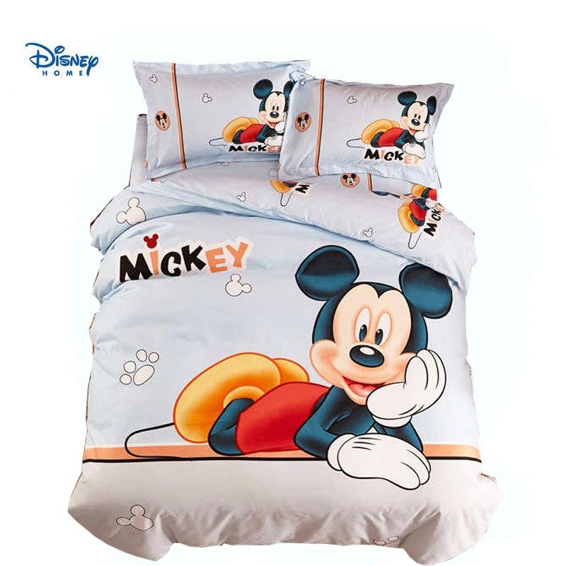 b5abbcce25 HD 3D impressão mickey mouse folha de cama set único gêmeo roupa de cama  completa queen size cama consolador dos desenhos animados crianças menino  colcha