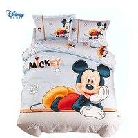 HD 3D printing mickey mouse bed sheet set single twin full queen size comforter bedding cartoon bed linen boy children bedspread