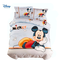 HD 3D printing mickey mouse bed sheet set single twin full queen size comforter bedding cartoon bed linen boy children bedspread