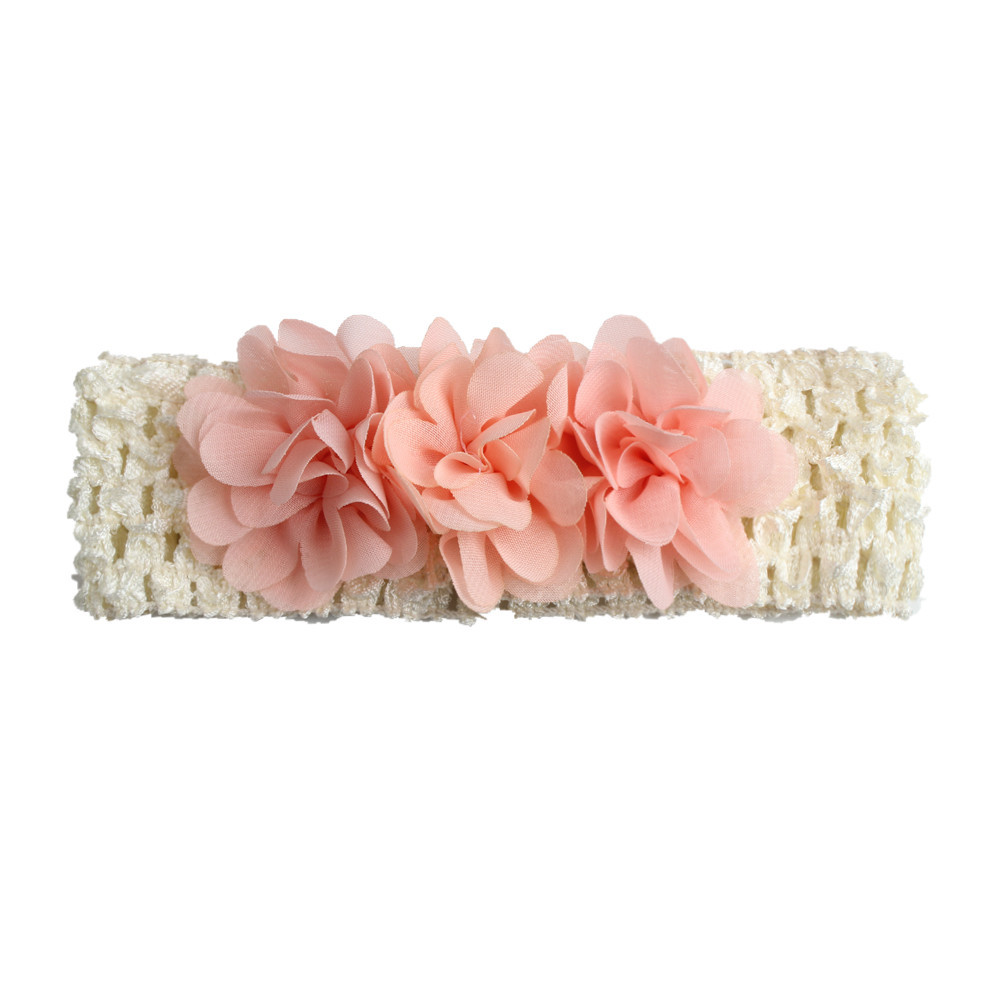 Naturalwell Flower Crown Baby Headband 2018 Chiffon Flower Wreath