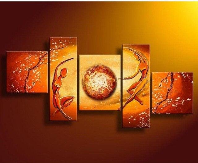 Panel foto muur kunst handgeschilderde abstracte