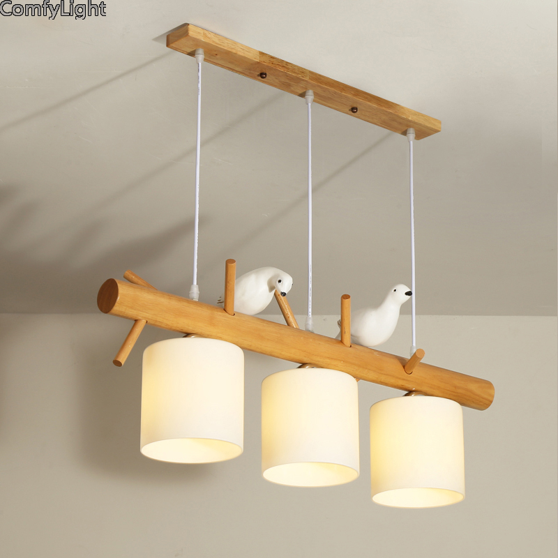 Modern led Glass Pendant Light Nordic Dining Room Kitchen Light bird Designer Hanging Lamps Home Decor Avize Lustre Lighting E27 modern milk white glass pendant light nordic dining room kitchen foyer light designer hanging lamps lustre lighting