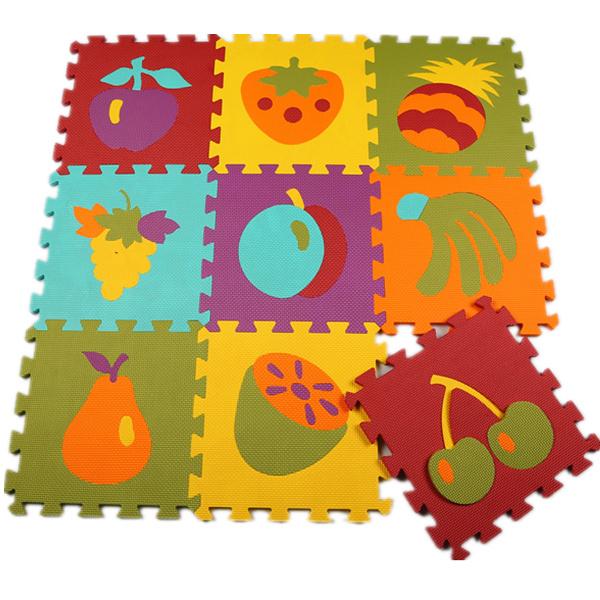 Puzzle Eva Material de Espuma Esteira do Jogo Para O Uso Infantil E Criança Jigsaw piso Tapete De Sala Interior Decoração Mat Padrão Animal Esteira do Enigma 9 pcs