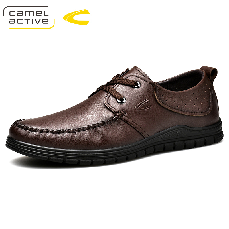 Camel Active New Men Shoes luxury Brand Genuine Leather Casual Driving Oxfords Shoes Men Loafers Moccasins Shoes for Men Flats цена 2017
